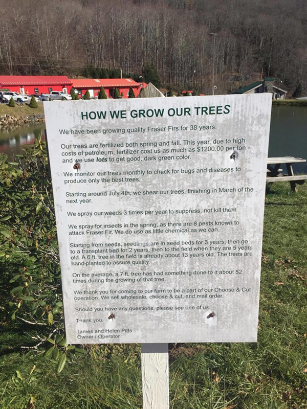 How We Grow Trees Sign